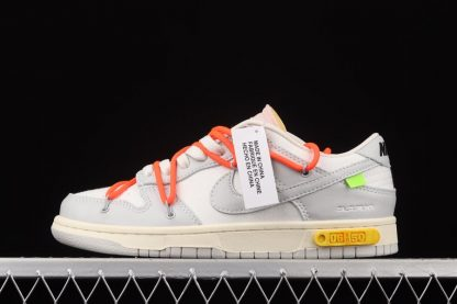 Off-White x Nike Dunk Low Lot 06 of 50 White Grey Orange
