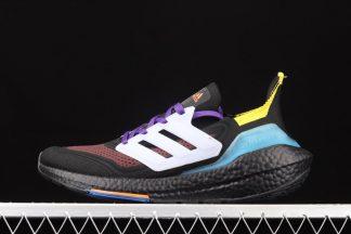 S23870 adidas UltraBoost 21 Black Pulse Aqua To Buy