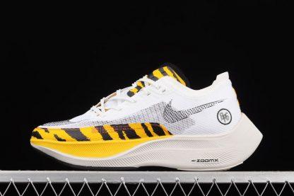 Tiger Stripes Nike ZoomX VaporFly NEXT 2 BRS White Black Yellow