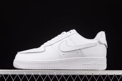 White Nike Air Force 1 Low With Fun Patches