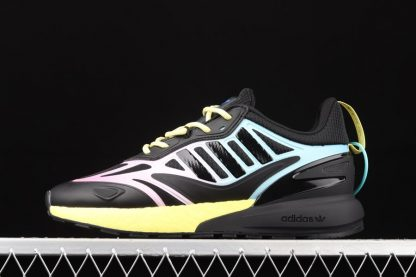 adidas ZX 2K Boost 2.0 Core Black Pulse Yellow-Sonic Ink
