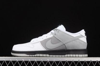 317813-101 Nike Dunk Low White Neutral Grey-Black To Buy