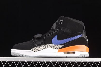 AV3922-048 Jordan Legacy 312 Knicks Black Rush Blue-Brilliant Orange