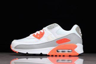 Buty Nike Air Max 90 White Hyper Orange-Light Smoke Grey