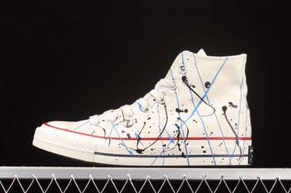 Converse Chuck 70 Hi Natural Archive Paint-Splattered Sneakers