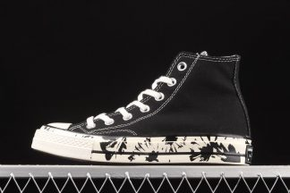 Converse Chuck Taylor All Star 70 Hybrid Floral High Top Sneaker In Black