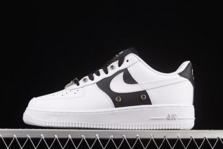 DA8571-100 Nike Air Force 1 Low Snap Button Bling Black White On Sale