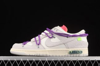 DJ0950-101 Nike x Off-White Dunk Low Lot 15 of 50 Sail Neutral Grey-Purple