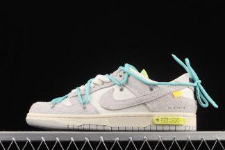 DJ0950-106 Nike x Off-White Dunk Low Lot 14 of 50 Sail Neutral Grey-Aqua