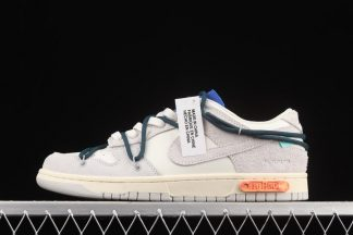DJ0950-111 Off-White x Nike Dunk Low Lot 16 of 50 Sail Neutral Grey-Nightshade