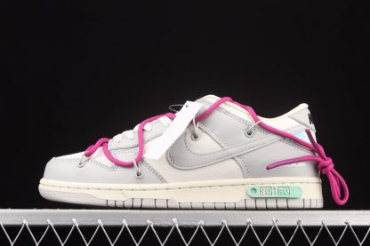 DM1602-122 Off-White x Nike Dunk Low Lot 30 of 50 Sail Neutral Grey
