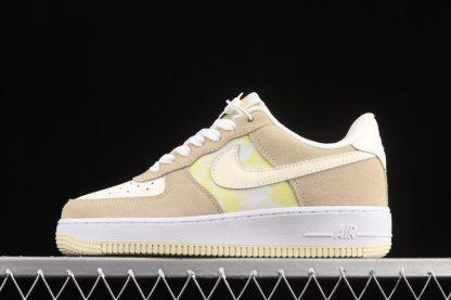 DM9476-700 Nike WMNS Air Force 1 Low Lemon Drop Tan Suede