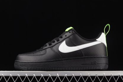 DO6394-001 Black Nike Air Force 1 Pivot Point With Reflective Ripple Swooshes