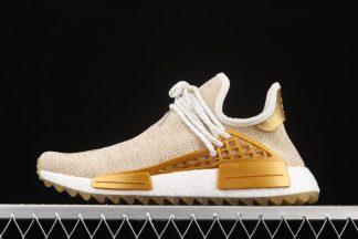 F99762 Pharrell x adidas NMD Hu Trail Happy Gold Metallic