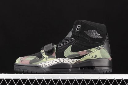 Jordan Legacy 312 Camo Green Black With Elephant Print