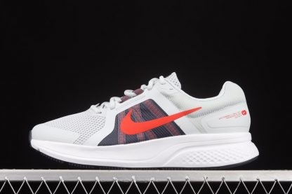Mens Nike Run Swift 2 Pure Platinum Chile Red Running Shoes