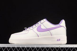 Nike Air Force 1 Low Beige Purple Schuhe für Damen günstig online kaufen