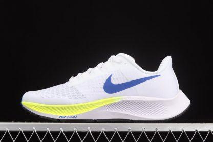Nike Pegasus 37 White Bright Yellow-Racer Blue-Black billigt online