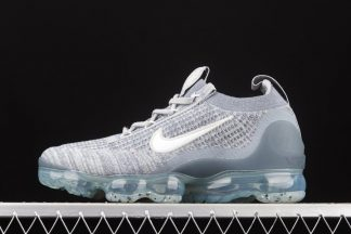 Nike Vapormax Flyknit 2021 Armory Blue White-Light Smoke Grey-Metallic Silver