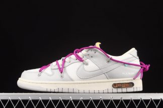 Off-White x Nike Dunk Low Lot 28 of 50 Sail Neutral Grey-Hyper Violet
