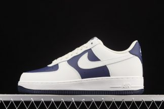 Saldi scarpe Nike Air Force 1 07 Low Dark Blue White