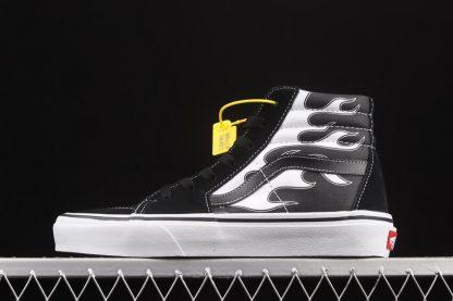 Vans SK8-Hi Flame Black White Sneakers