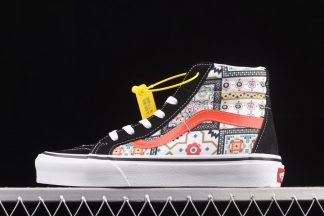 Vans Sk8-Hi Customs Moroccan Black Multi-Color Skate Shoes Sneakers
