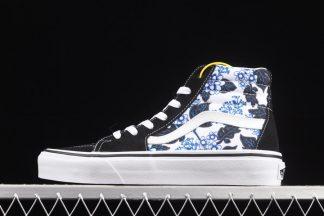 Vans Sk8-Hi Tapered Black Floral Blue-White To Buy