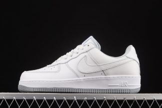 White Nike Air Force 1 Low With Grey Outsole