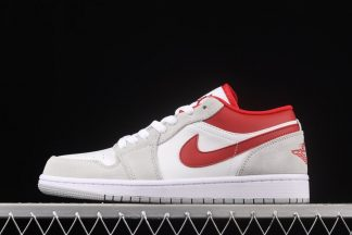 DC6991-016 Air Jordan 1 Low White Grey Gym Red For Sale
