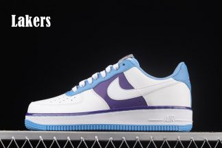DC8874-101 NBA x Nike Air Force 1 Lakers