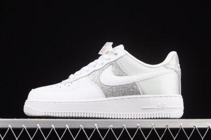 DD6629-100 Nike Air Force 1 Low 07 White Metallic Silver