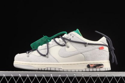 DJ0950-115 Nike Off-White x Dunk Low Lot 20 of 50 Sail Neutral Grey-Gridiron
