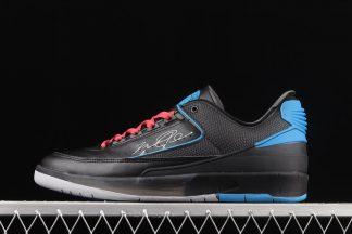 DJ4375-004 Off-White x Air Jordan 2 Low Black Royal Blue On Sale