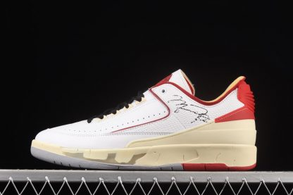 DJ4375-106 Off-White x Air Jordan 2 Low White Red Black On Sale