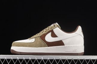 Nike Air Force 1 Low Beige Brown Green Suede Outlet