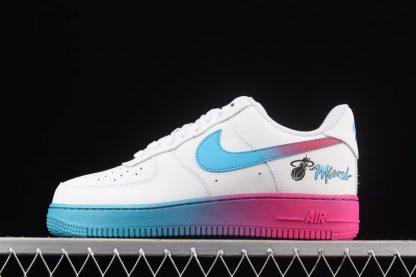 Nike Air Force 1 Low Miami White Blue Fireberry