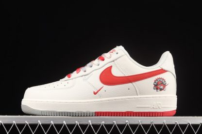Nike Air Force Low 1 07 Raptors Sail Red For Sale